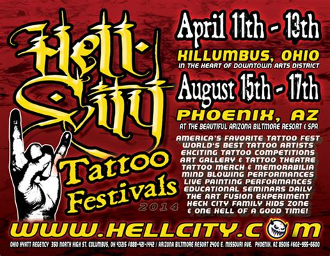 hell city tattoo hell city convention 2014 yell magazine
