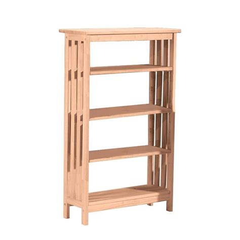 international concepts unfinished open bookcase sh 4830m
