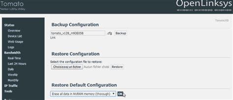 nvram configuration reset asus triple test routeur opensource asus rt ac68u