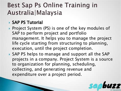 tutorial sap ps sap ps onlinetraining in usa uk sap buzz training