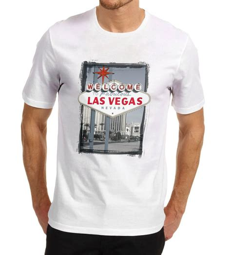 Printed T Shirts For Mens Uk by S Welcome To Las Vegas Iconic Sign Printed T Shirt Ebay