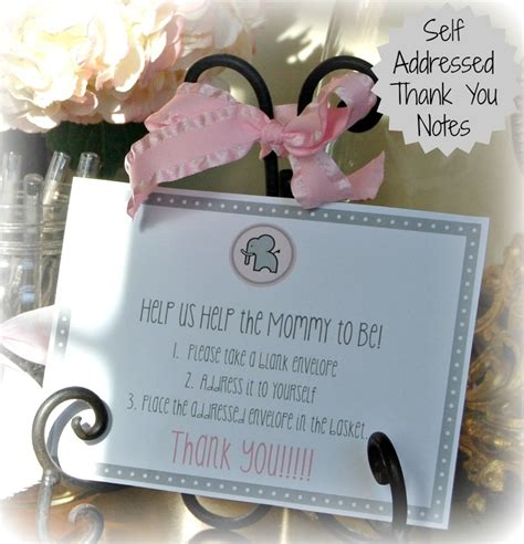 What Do You Write In A Baby Shower Book by Self Addressed Thank You Notes For Baby Or Bridal Shower