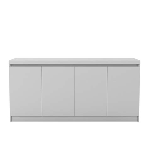 manhattan comfort serra 1 0 white 5 shelf bookcase manhattan comfort viennese 62 99 in white gloss 6 shelf