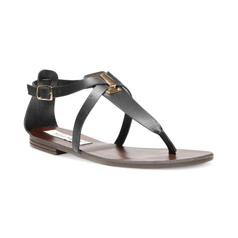 madden flat shoes steve madden kween flat sandals in black black