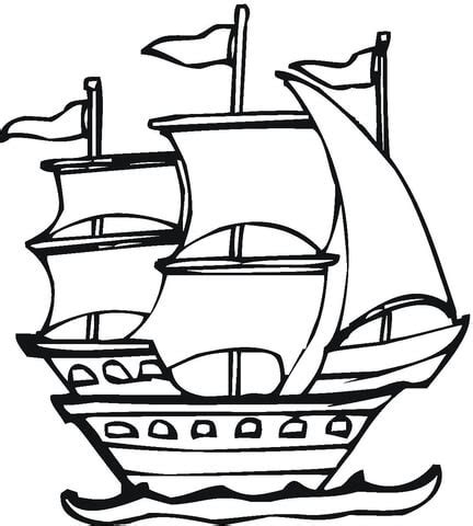 spanish expedition coloring page supercoloringcom sketch template