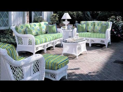 decent   white wicker patio furniture
