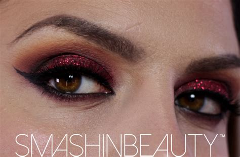 tutorial eyeshadow glitter red glitter eye makeup tutorial mugeek vidalondon