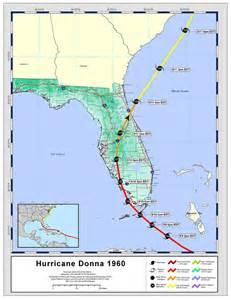 hurricane map florida tracks by name hurricane donna 1960