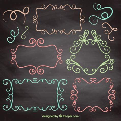 cornici colorate cornici colorate disegnate con linee scaricare vettori