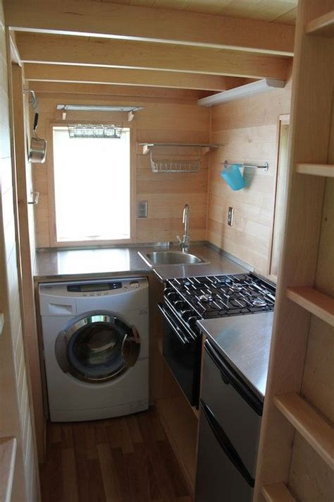 washer and dryer in kitchen super easy to build tiny house plans tiny houses washer