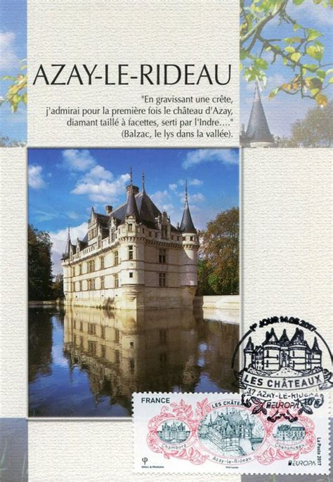 Poste Azay Le Rideau by Timbre 2017 Europa Les Ch 194 Teaux Chambord Azay Le