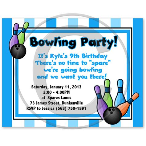 bowling birthday invitation templates bowling invites