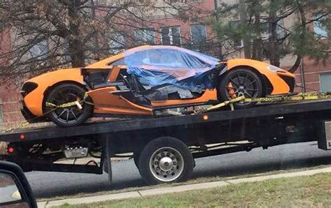Orange Mclaren P1 Crashes In Washington D C Gtspirit