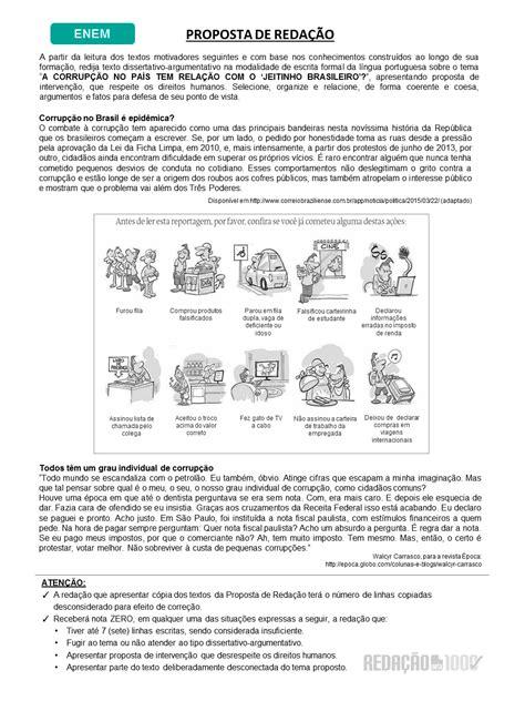 Exemplo De Texto Dissertativo Para O Enem
