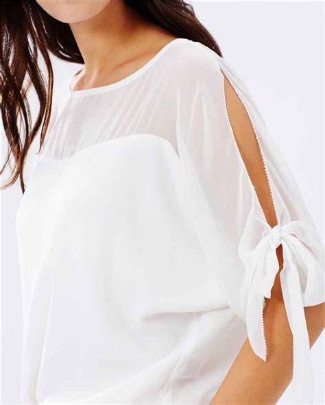Cc81281 Baju Chiffon Hitam Putih Polos Import blouse putih polos cantik import toko baju wanita murah goldendragonshop