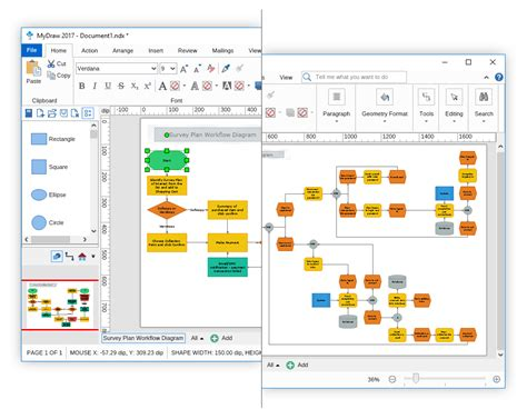 advanced visio diagram software for drawing flowchart org chart mind