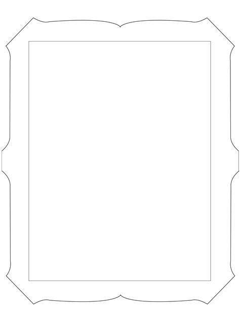 printable picture frames templates 6 best images of cool picture frame design printable