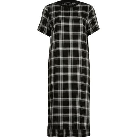 Check Midi Dress black check sleeve midi dress dresses sale