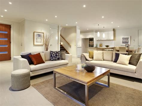 How To Decorate A Victorian Home by Open Plan Living Room Using White Colours With Tiles