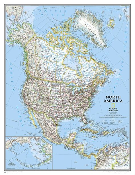laminated us road map america classic wall map enlarged and laminated