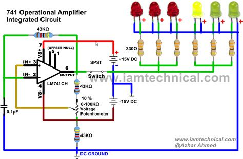 integrated circuit operational lifier lm741hc operational lifier as an astable multivibrator circuit output frequency 194hz