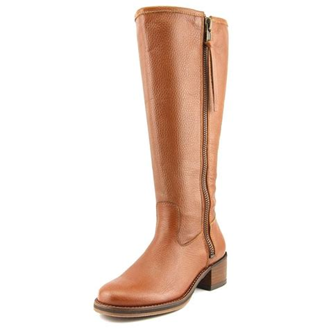 brown leather wide calf boots lucky brand lucky brand hyperr wide calf w leather brown mid calf boot boots