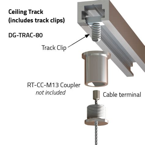 Ceiling Track - ceiling track cable suspension systems griplock