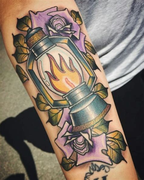 watercolor tattoo oslo lantern on