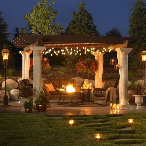 String Lights Around A Pergola Home Pinterest Pergola String Lights