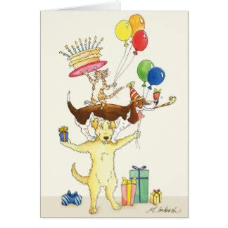 happy birthday animal stak design goldendoodle cards zazzle