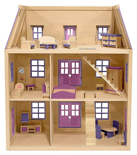 wooden dolls house with furniture best christmas ever the doll house