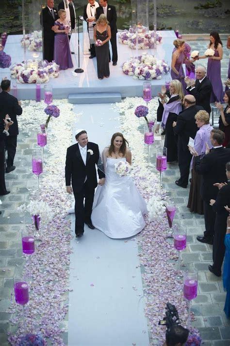 Wedding Aisle On Water by Ceremony D 233 Cor Photos Purple Petal Aisle Inside Weddings