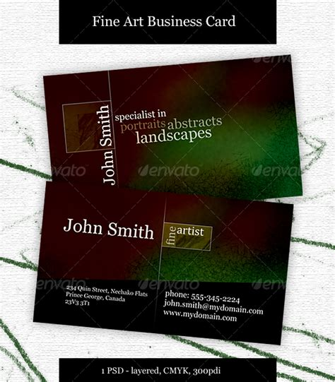 Business Card For Artists Templates by Artist Business Card Graphicriver