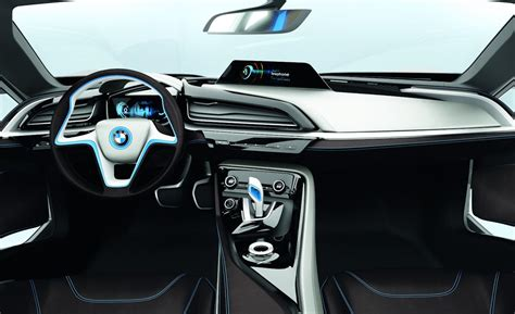 bmw i8 inside car and driver