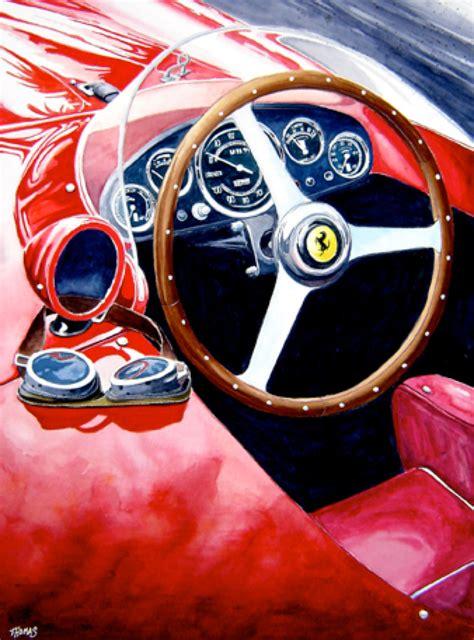 ferrari art automotive artist brings ferrari and delorean paintings to
