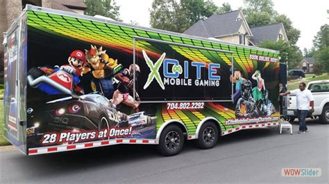 book  video game truck laser tag glamour party