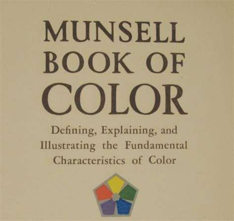 chroma a of many colors books the munsell book of color 1929 hue value chroma
