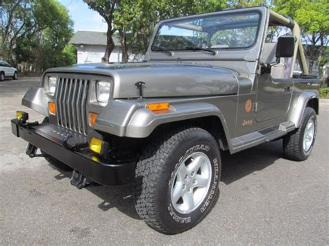 1991 jeep wrangler sahara sport utility 2 door 4 0l 4x4 garage kept excellent nr for sale jeep
