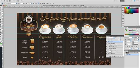 design coffee shop menu layout coffee shop version 2 menu board psd template eclipse