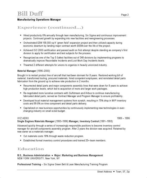17 Best Business Resume Sles Images On Pinterest Free Resume Sles Business Resume And Resume Templates For Manufacturing