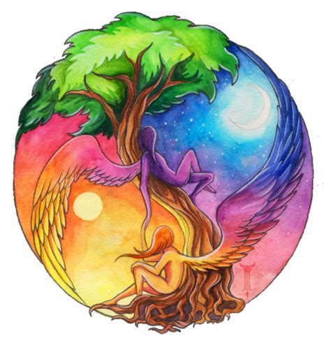 yin yang tree tattoo druids trees yin yang spirits of the tree of