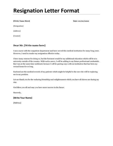 Best Resignation Letter Due To Health Reasons Resignation Letter Format Best Resignation Letter Sle Best Exles Of