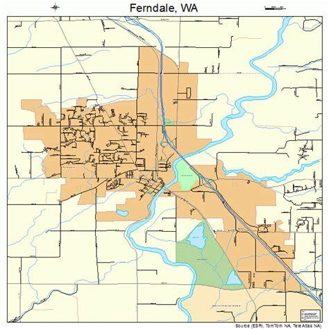 wa map ferndale washington map 5323620