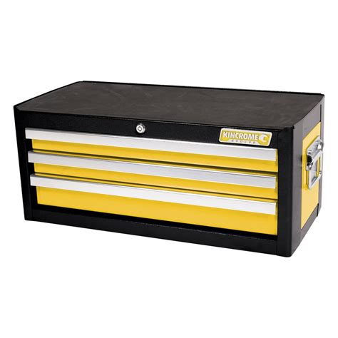 kincrome 3 drawer tool chest kincrome evolve 174 add on tool chest 3 drawer wasp yellow