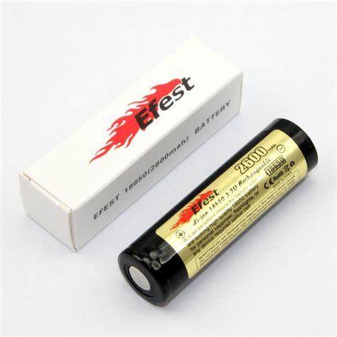 Item Efest 18650 Li Ion Unprotected Battery 2600mah 37v With Fla efest 18650 li ion unprotected battery 2600mah 3 7v with flat top black yellow