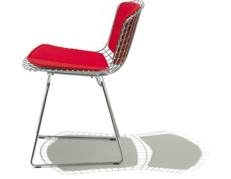 bertoia side chair with back pad seat cushion