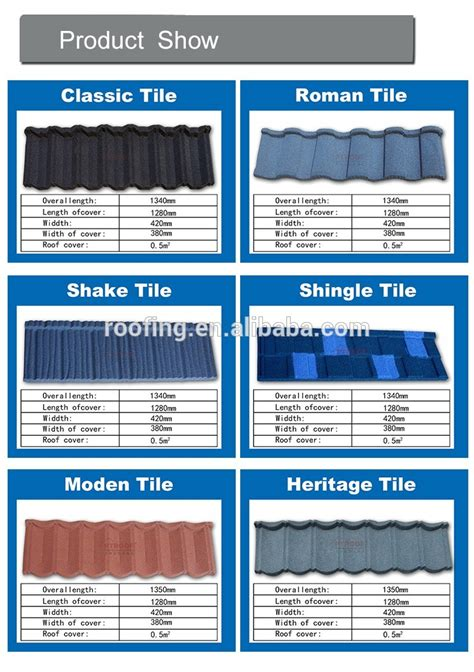 tile type span roofing span monier villa roof price z120 coated metal