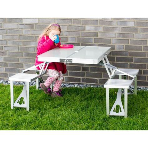 tavolo pic nic pieghevole tavolo e sedie in alluminio pieghevole per ceggio o pic nic