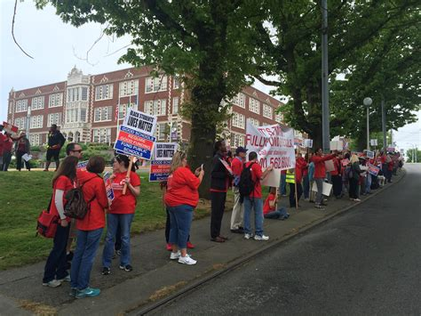 Seattle School District Address Lookup Teachers March Through Seattle Streets As One Day Strike Closes District Schools Knkx