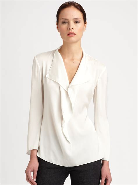 Ruffle Blouse images of silk ruffle blouse best fashion trends and models